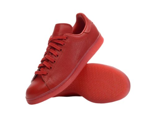 Rote Sneaker von Adidas Stan Smith Adicolor
