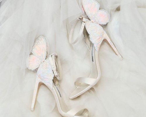 Schmetterlings High Heels der Sophia Webster Bridal Collection