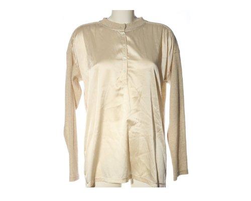 Schöner Bluse mit Strick Sleaves von Brigitte Büge.