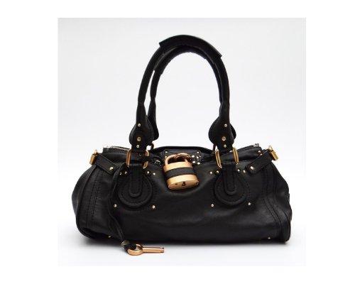 Schwarze Chloé Paddington Tasche