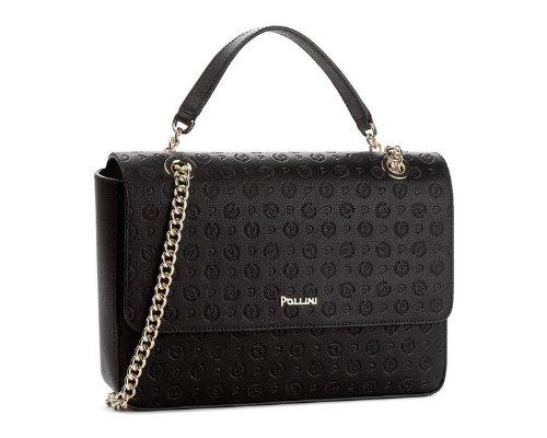 Schwarze handtasche mit Logo von Armando Pollini