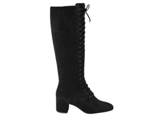 Schwarze Leder-Stiefel von Ariane