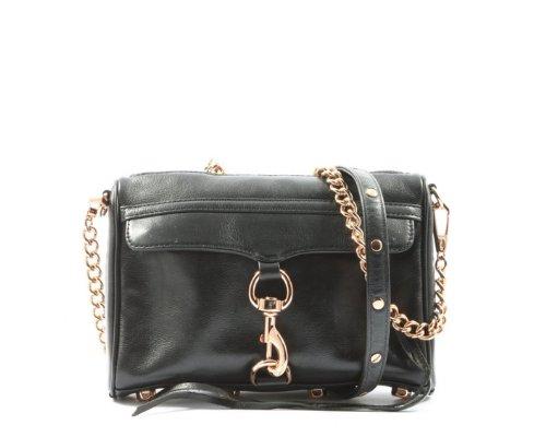 Schwarze Rebecca Minkoff Mini Mac Chain Bag