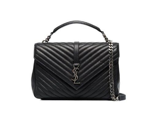 Schwarze Saint Laurent Monogramme Handtasche