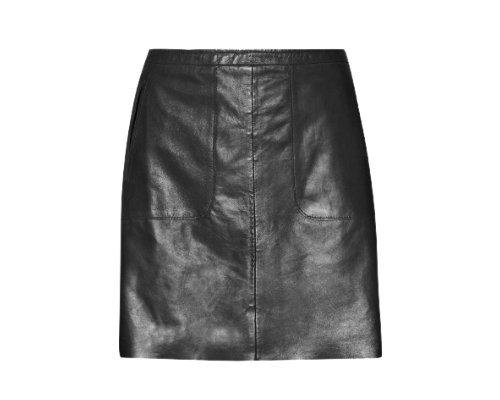 Schwarzer Lederrock von Ange Paris