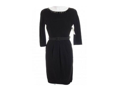 Schwarzes Minikleid mit Spitze und einem Carmen-Ausschnitt von Blumarine