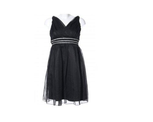 Schwarzes Paillettenkleid von Azaka Paris