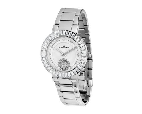 Silberne Uhr von Jacques Lemans