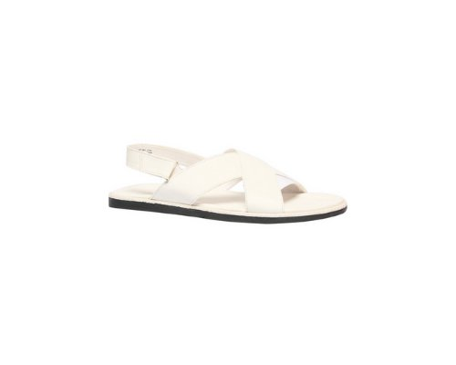 Süße weißse Sandalen aus super hochwertigem Material geschaffen und mit Edelsteinchen verziert