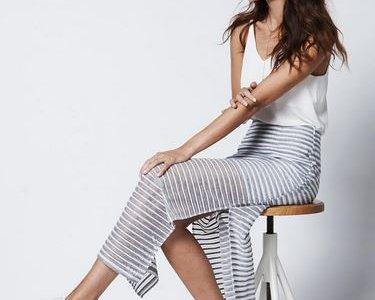 Summer Stripes Look von Aaiko mit leichtem Top und Maxirock