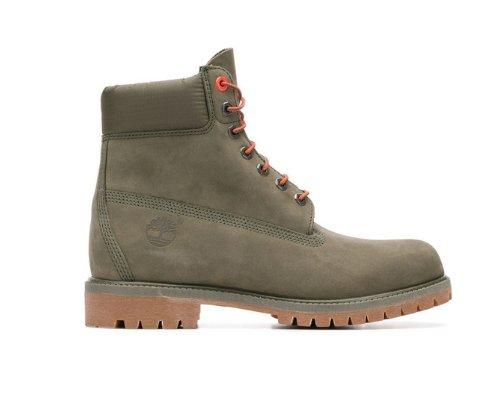 Timberland Premium Boots in klassischem Grün-Gelb