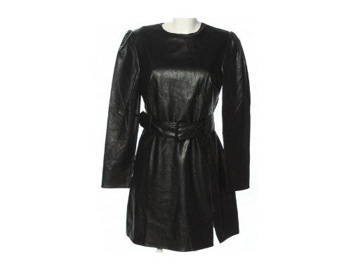 Trägerkleid in Schwarz mit weißen Polkadots von Fashion Union