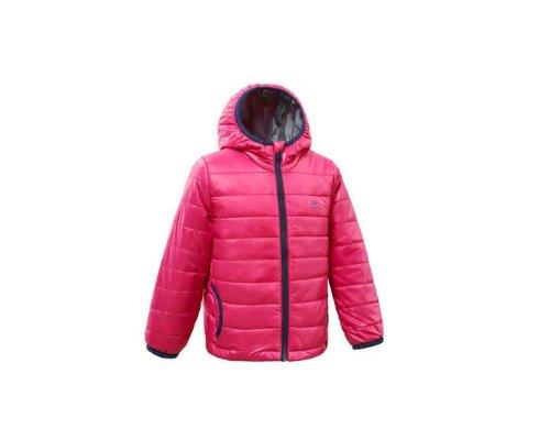 Trendige Daunenjacke in Pink von Decathlon.