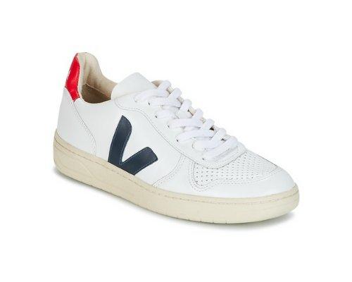 Veja Black & White Sneaker mit Klett