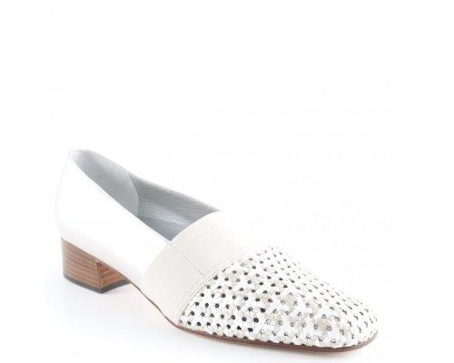 Weißer Slipper mit Imprint von Alexandria