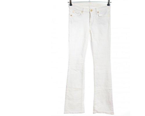 Witte Slim Jeans van Seven for all Mankind