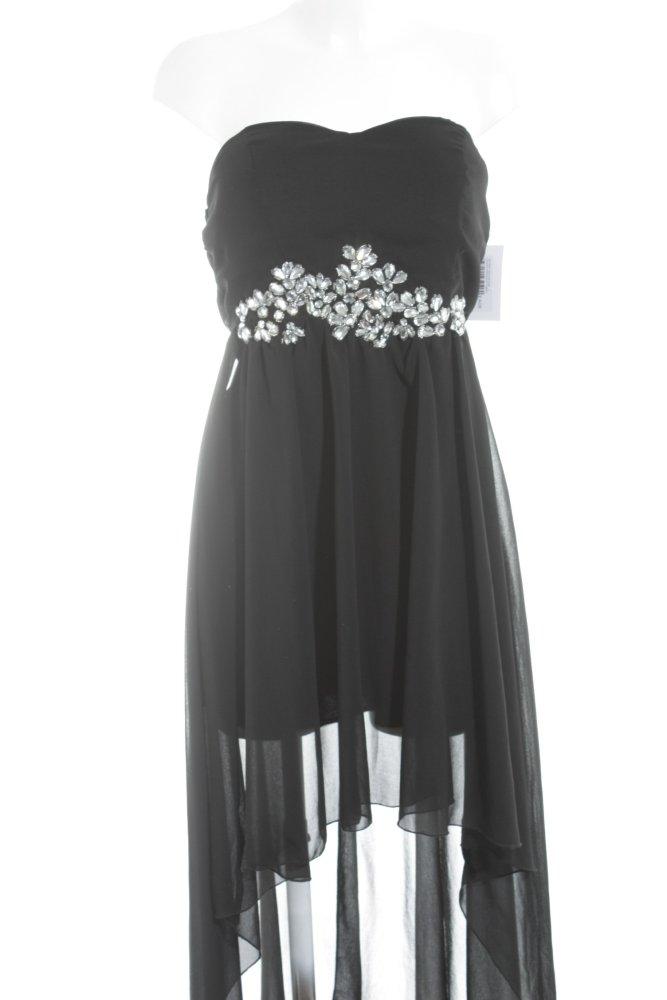 Ax Paris Vokuhila Kleid Schwarz Silberfarben Elegant Damen Gr De 40 Dress Ebay