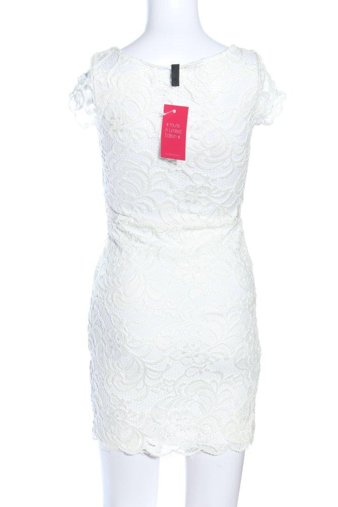 H&M DIVIDED Spitzenkleid weiß Elegant Damen Gr. DE 36 weiß ...