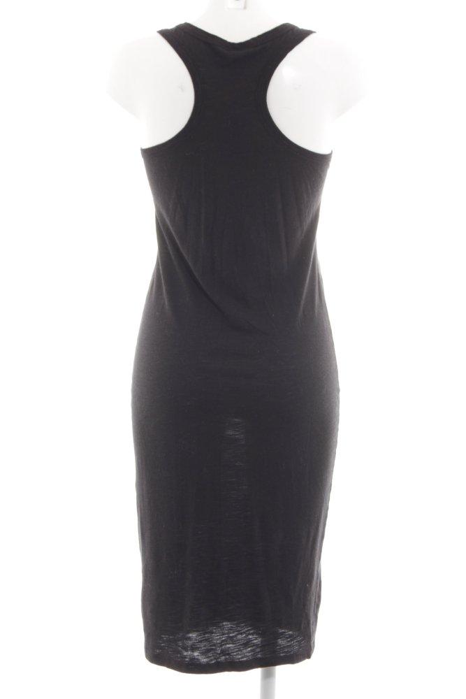 H&M Midikleid schwarz Casual-Look Damen Gr. DE 36 Kleid ...