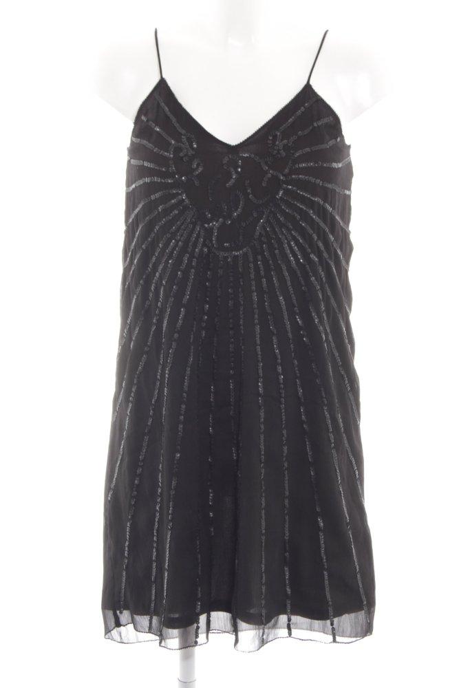 H&M Pailettenkleid schwarz abstraktes Muster Elegant Damen ...