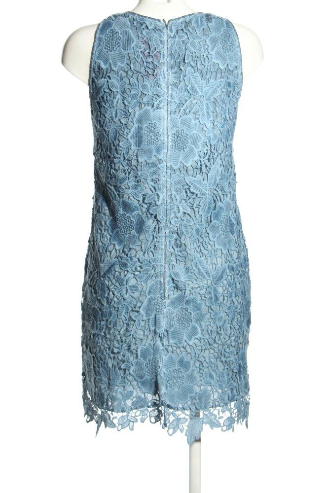 HALLHUBER A-Linien Kleid blau Blumenmuster Elegant Damen ...