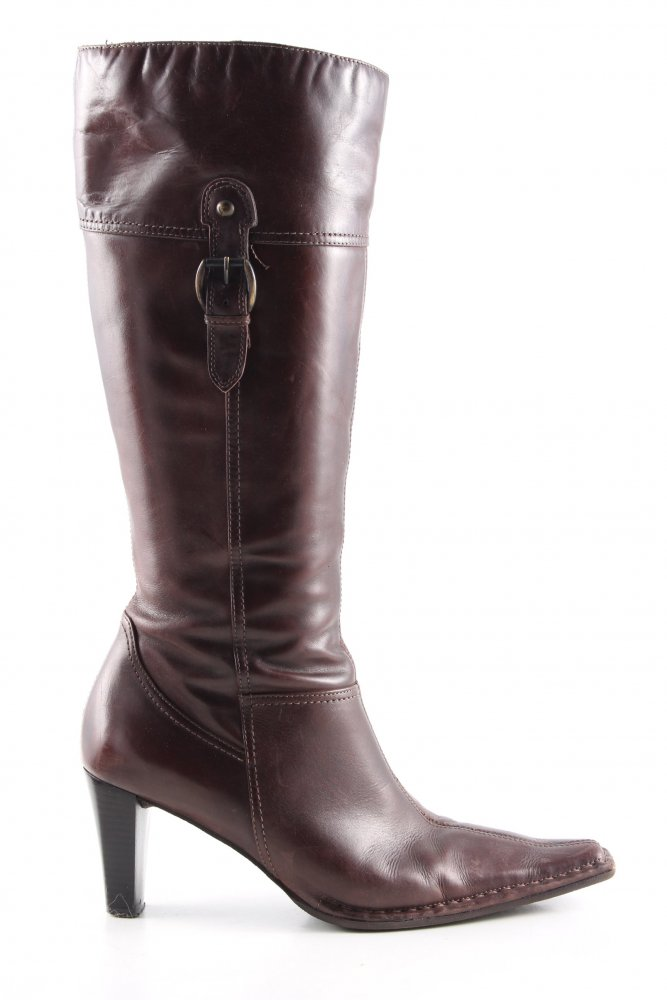 10S Marco Tozzi Damen Stiefel Boots Gr. 40 Velours Leder braun Keilabsatz Wedge | eBay