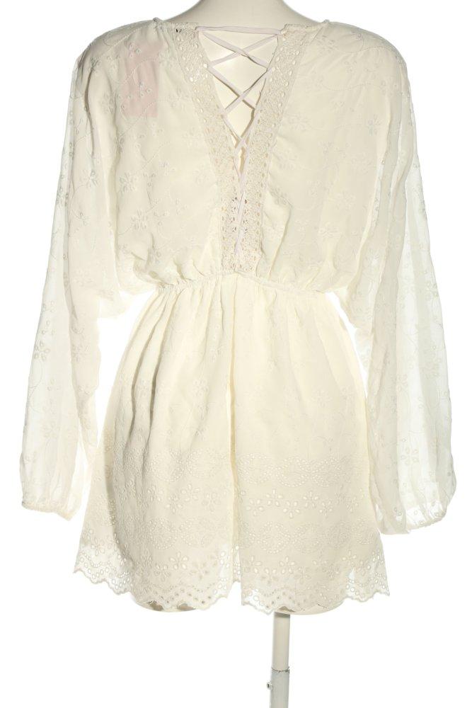 Nakd Blusenkleid Wollweiss Casual Look Damen Gr De 36 Wollweiss Kleid Dress Ebay