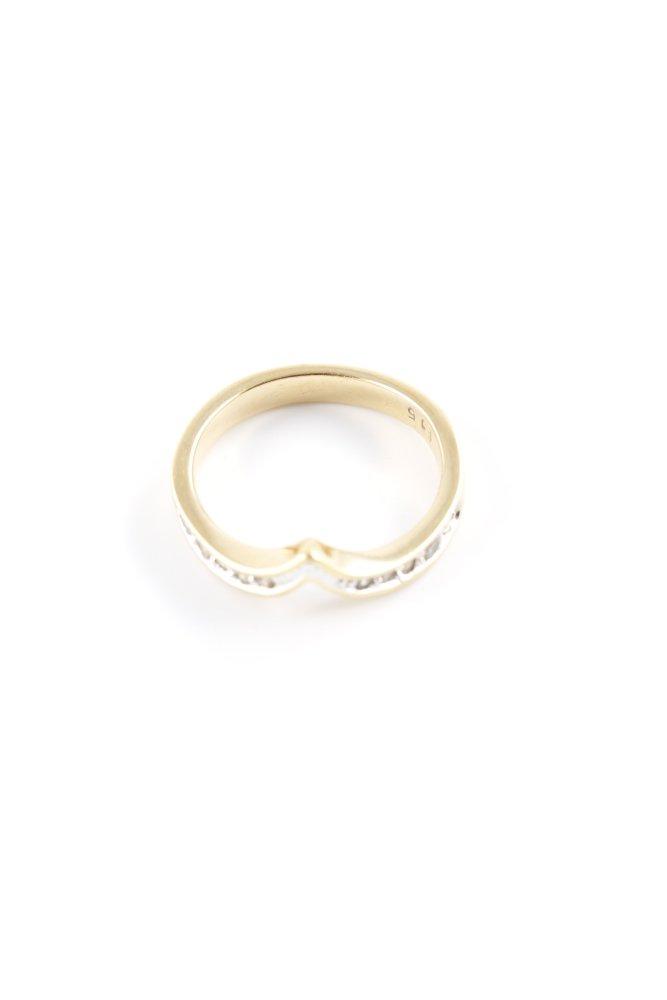 Details zu PIERRE LANG Statementring goldfarben Elegant Damen Gr. DE 51 Ring Statement Ring