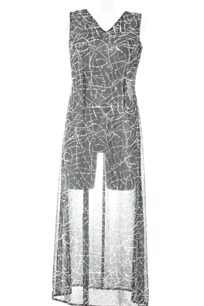 TAIFUN Trägerkleid schwarz-weiß abstraktes Muster ...