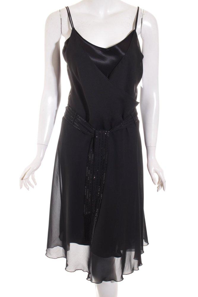 TOMMY HILFIGER Abendkleid schwarz Elegant Damen Gr. DE 38 ...