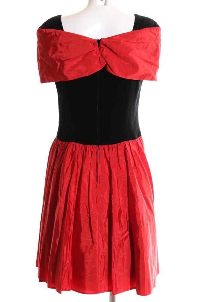 VERA MONT Abendkleid schwarz-rot Elegant Damen Gr. DE 42 ...