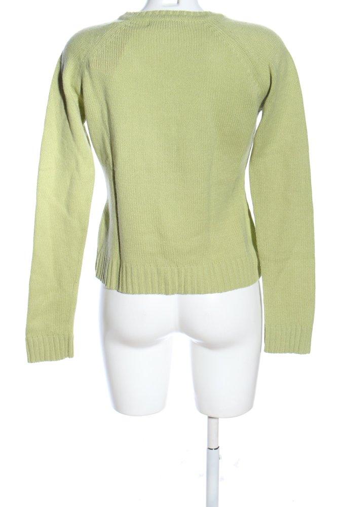 Details zu ZARA Strickpullover grün Casual Look Damen Gr. DE 38 Pullover Sweater