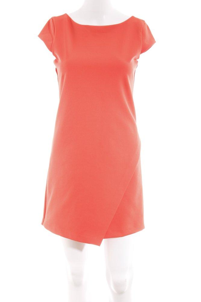 ZARA TRAFALUC Moulante Orange Fluo Business-Look Femmes Taille FR 34 robe dress | eBay