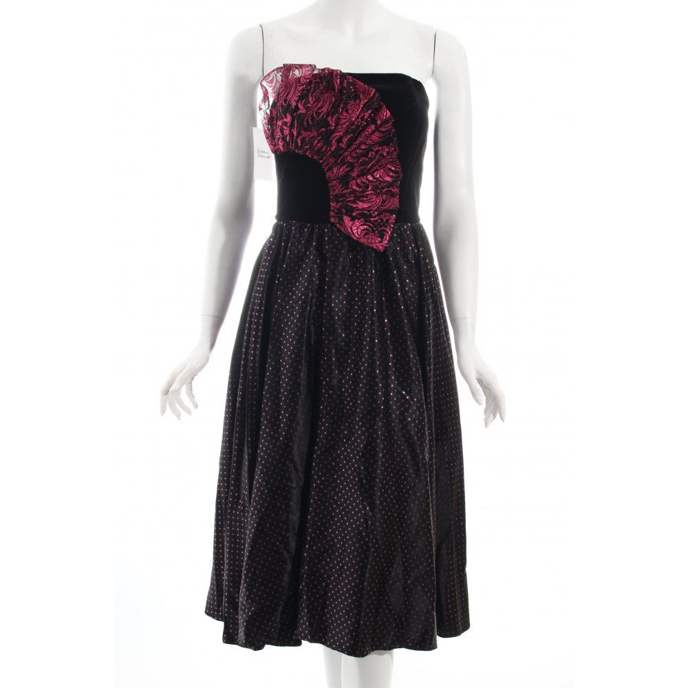 a linien kleid schwarz pink party look damen gr de 36 dress a line dress ebay. Black Bedroom Furniture Sets. Home Design Ideas
