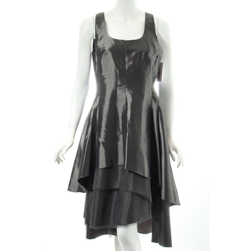 abendkleid dunkelgrau glanz optik damen gr de 40 kleid. Black Bedroom Furniture Sets. Home Design Ideas