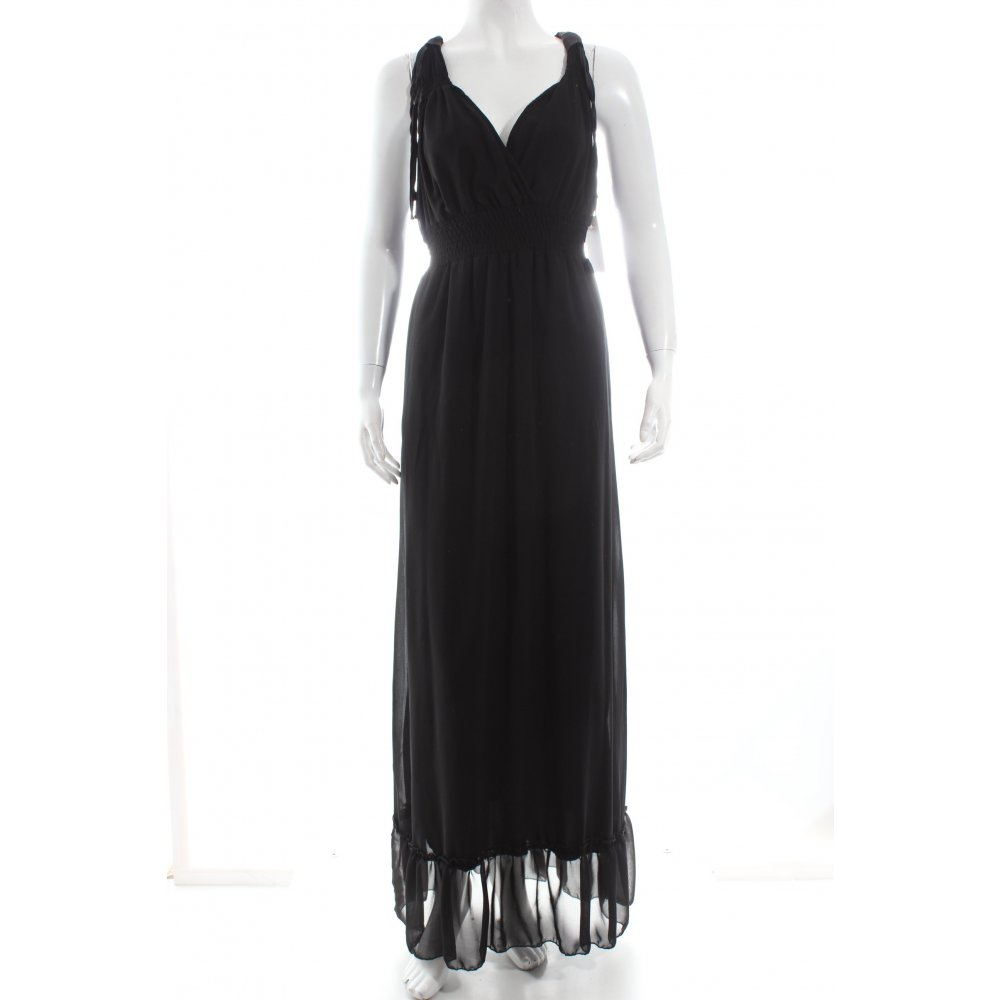 abendkleid schwarz elegant damen gr de 42 kleid dress evening dress ebay. Black Bedroom Furniture Sets. Home Design Ideas