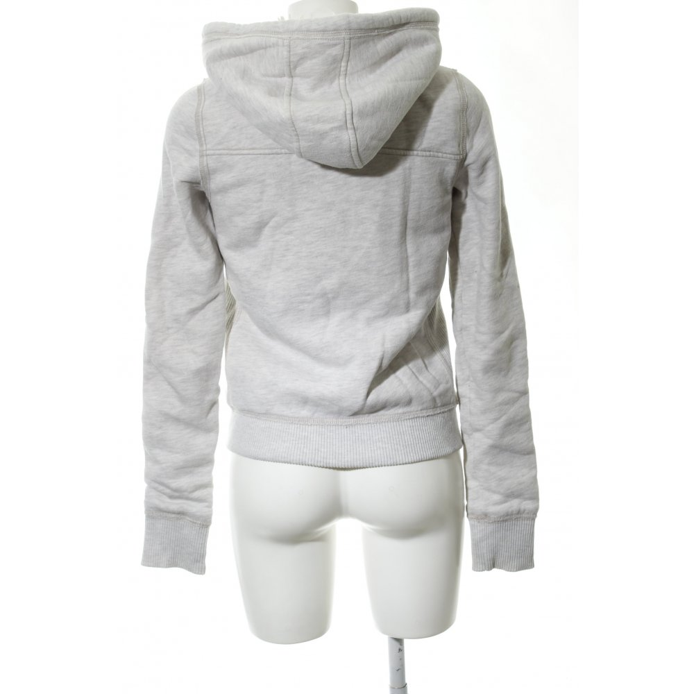 Detalles de ABERCROMBIE & FITCH Vestido de tela de sudadera gris claro moteado Mujeres