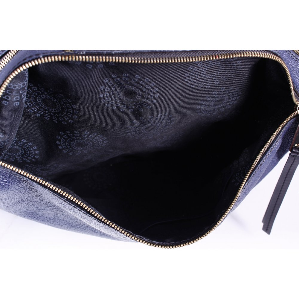 abro handtasche dunkelblau casual look damen tasche bag handbag ebay. Black Bedroom Furniture Sets. Home Design Ideas