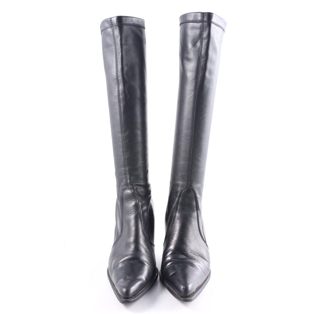 40 GrDe High Absatz Business Schwarz Stiefel Damen Look PiZXOkTu