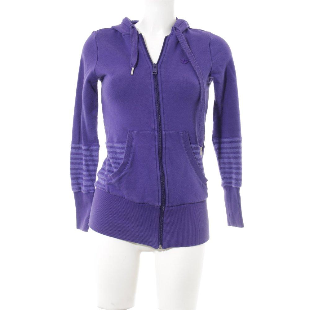Détails sur ADIDAS Gilet à capuche violet violet style athlétique Dames T 36 coton