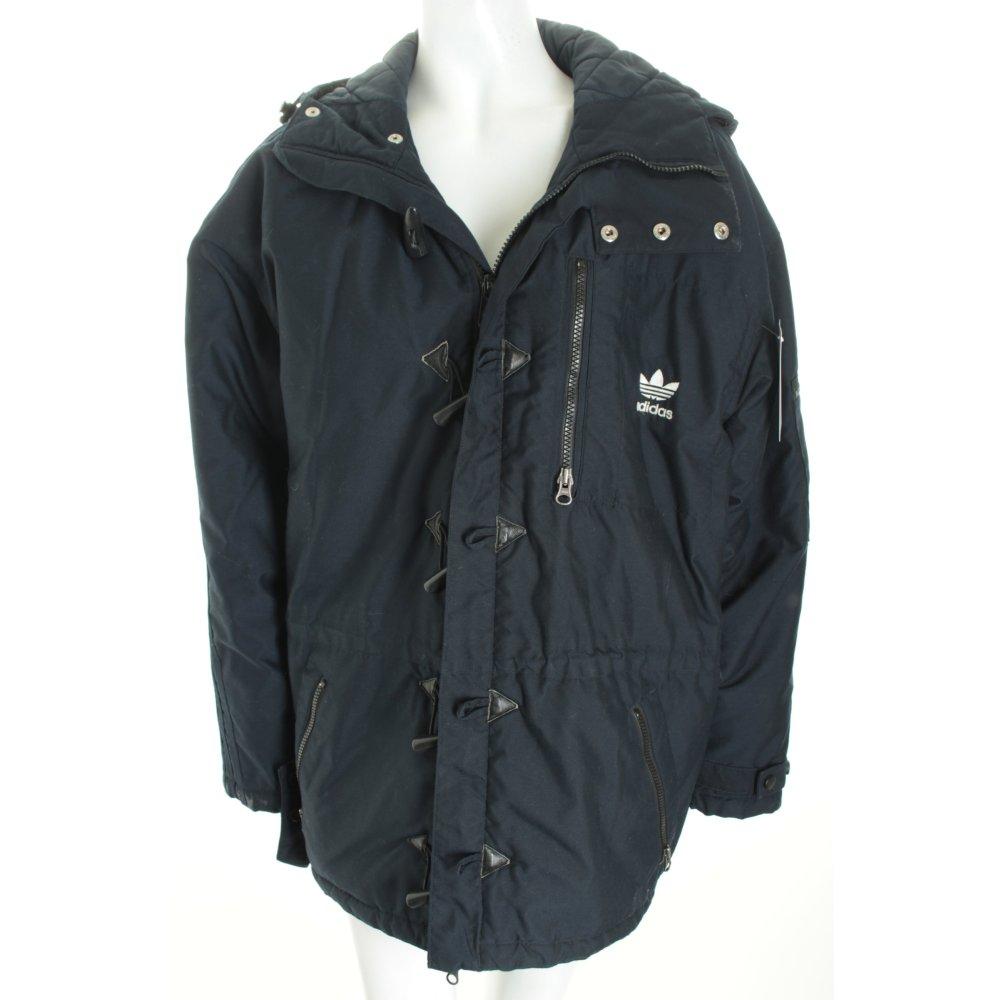 adidas parka dunkelblau sportlicher stil damen gr de 40 jacke jacket. Black Bedroom Furniture Sets. Home Design Ideas