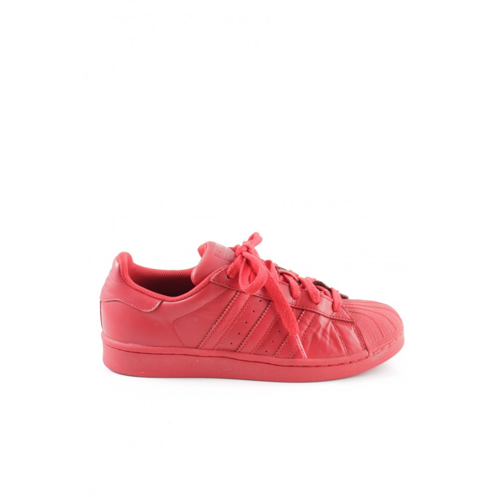 "plus récent 5a27f ed02c Détails sur ADIDAS Basket à lacet ""X PHARRELL WILLIAMS SUPERSTAR"" rouge  Dames T 37,5"