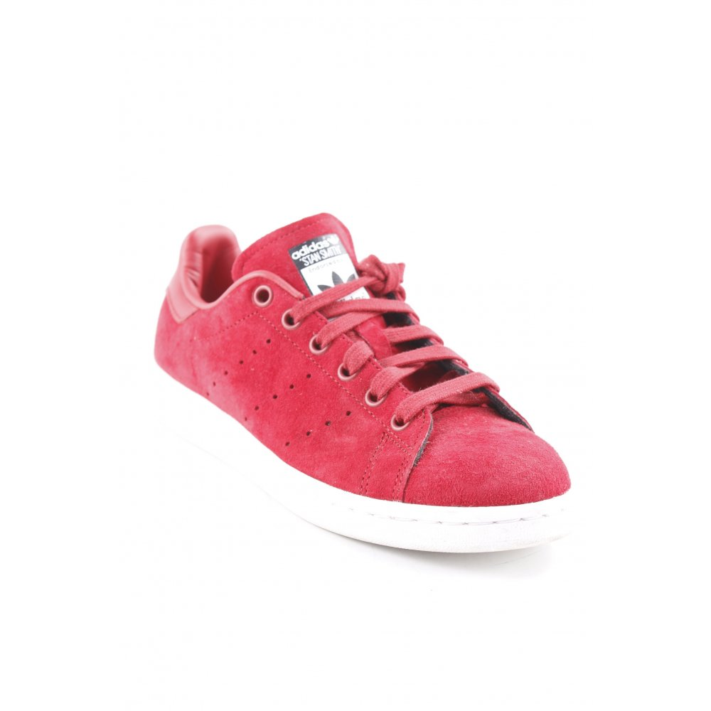 BZ0656 STRINGATA ROSA//NERO ADIDAS STAN SMITH DONNA PELLE