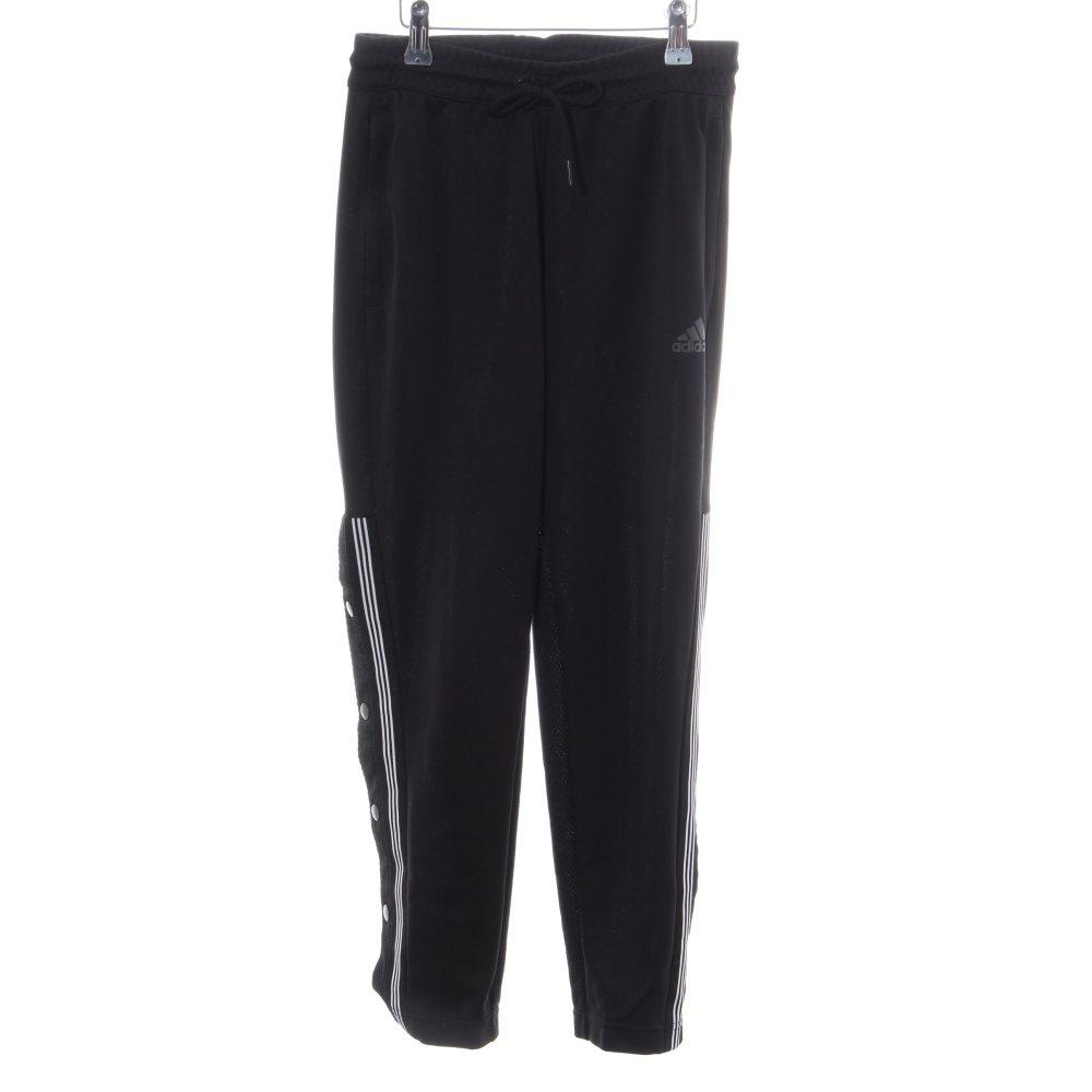 Details zu ADIDAS Sporthose schwarz weiß Casual Look Damen Gr. DE 32 Hose Trousers Trackies