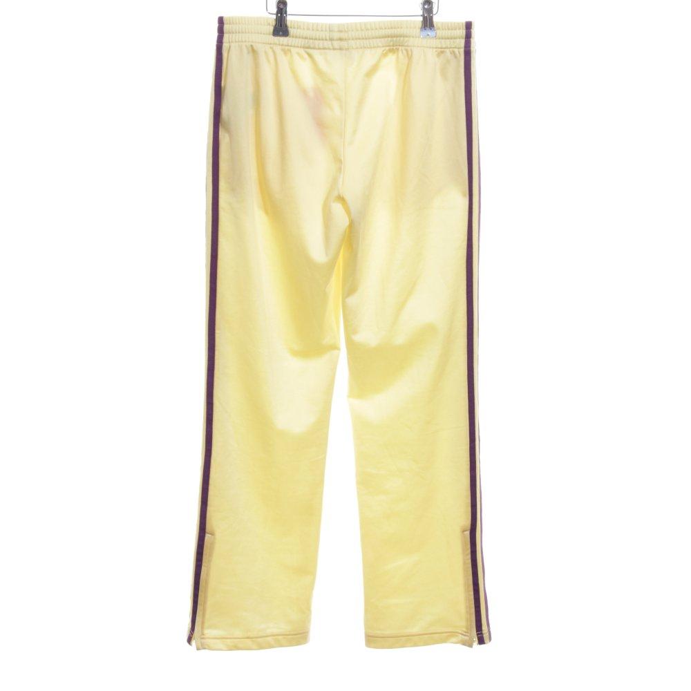 Détails sur ADIDAS Pantalon de jogging jaune primevère violet motif rayé Dames T 40