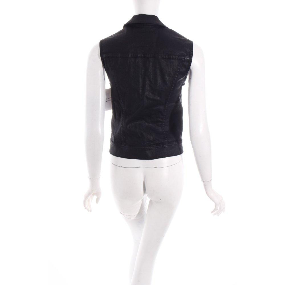 adriano goldschmied jeansweste the debbie schwarz damen gr de 36 weste. Black Bedroom Furniture Sets. Home Design Ideas