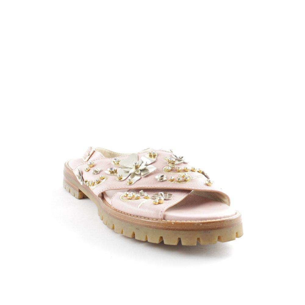 AGL Sandalo con cinturino rosa pallidoargento stile romantico Donna Pelle
