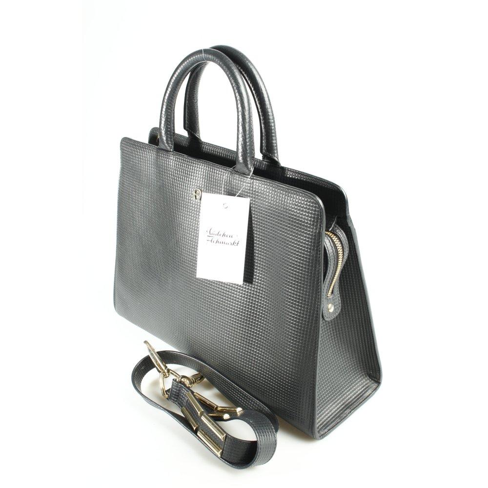 aigner businesstasche schwarz business look damen tasche bag leder business bag ebay. Black Bedroom Furniture Sets. Home Design Ideas