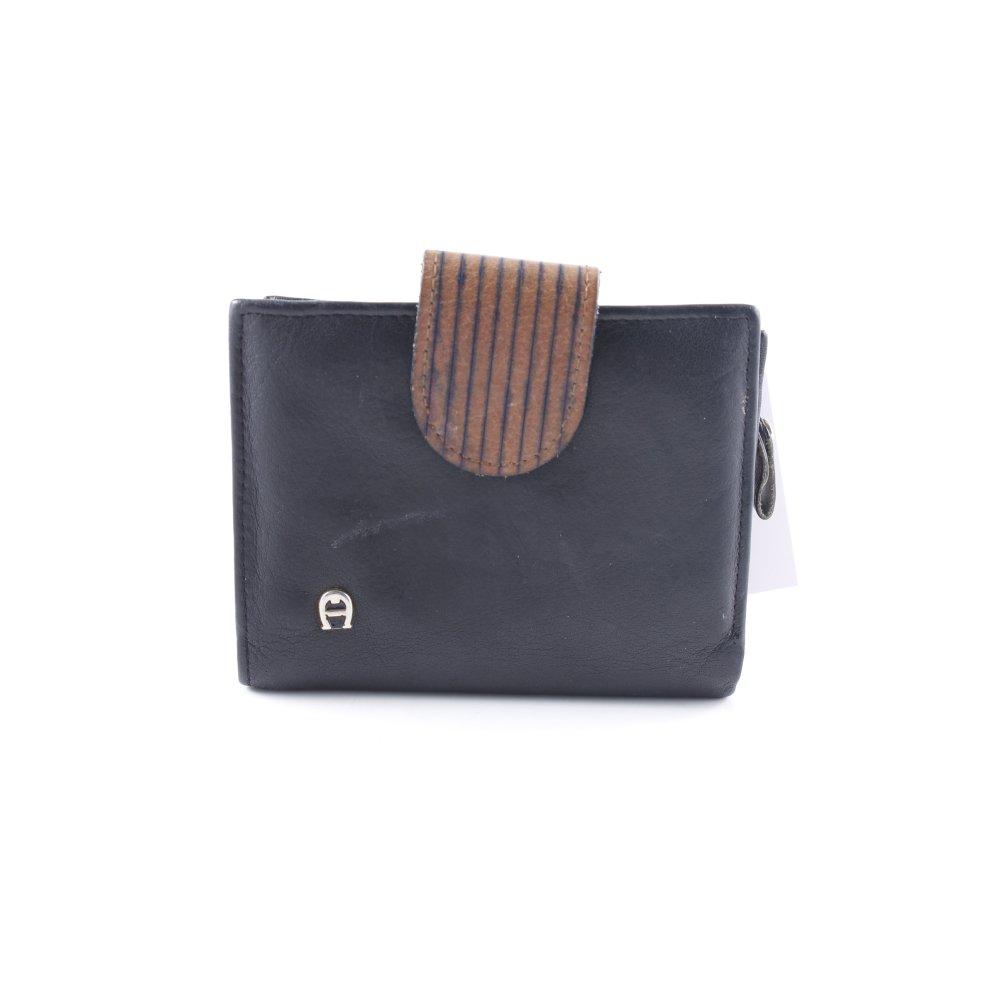 Aigner Geldbörse Schwarz Braun Casual Look Damen Tasche Bag
