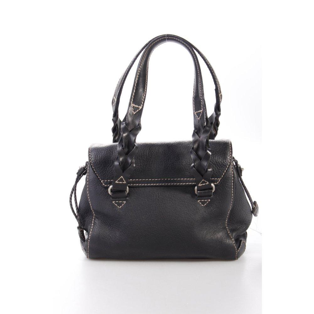 aigner handtasche schwarz damen tasche bag handbag ebay. Black Bedroom Furniture Sets. Home Design Ideas
